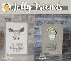 jolly friends by stampin up winter 2016 sneak peek neu elch elf vom Stempeltier…