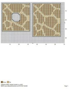 GIRAFFE PRINT TISSUE BOX COVER by JODY