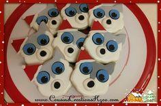 Santa Husky Cookies Custom Cookies by Cousin's Creations - Cousin's Creations