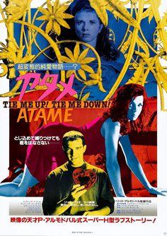 keyframedaily:Pedro Almodóvar's Tie Me Up! Tie Me Down! Baba Yaga, Cinema Posters, Film Posters, Movie Titles, Film Movie, Blade Runner, Poster On, Poster Prints, Almodovar Films