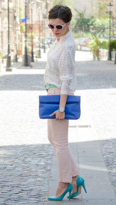 Hello, everybody! How about some pastels today? I have found the perfect ones and they are just refreshing, don't you think? And the su. Hot Pink Skirt, Miss Green, Pastel Outfit, Pastels, Clothes For Women, Chic, Womens Fashion, Casual, Skirts