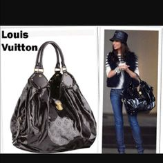 Authentic Louis Vuitton Mahina Surya XL Black Patent leather Louis Vuitton Mahina. Bag is in great condition. Pre loved but no noticeable wear. Comes with dust bag and cleaning cloth. Trades considered for items of similar value with established poshers. The first picture is obviously not mine, she wears it better than me! Louis Vuitton Bags Shoulder Bags