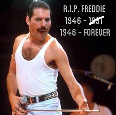 21 years ago today, the world lost the greatest performer of all time. R.I.P Freddie Mercury