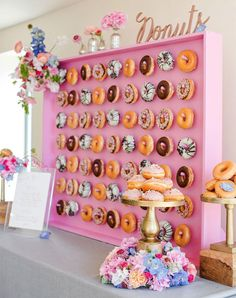 Donut wall wedding and party inspiration and ideas.