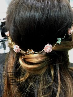 Tying the 'Knot' - Half Up Half Down Wedding Hair done by Sherisse Wedding Hairstyles Half Up Half Down, Something Beautiful, Tie The Knots, Hair Designs, Designers, Bridal, Jewelry, Fashion, Tying The Knots