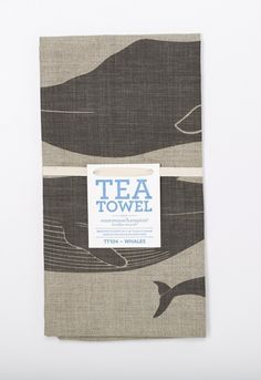 Whales Tea Towel  TheOriginalPrep