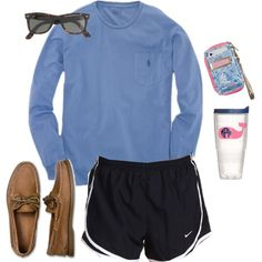 polo, nikes, sperrys, raybans and lilly pulitzer. Can't wait for these summer days, I could live in this outfit.