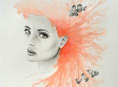 Marina - Illustration Art Print de TaniaEstevezArt en Etsy
