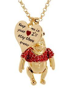 Disney Couture - Collier avec pendentif Winnie l'Ourson