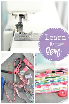 Sewing For Beginners Easy Sewing Classes: These free online sewing classes will help you learn to sew. Everything from what machine and supplies to buy, how to thread your machine and how to sew a straight line (and beyond). Easy Sewing Projects, Sewing Hacks, Sewing Tutorials, Sewing Crafts, Sewing Tips, Sewing Ideas, Sewing Lessons, Sewing Classes For Beginners, Leftover Fabric