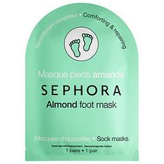 Sephora Collection foot mask in Almond and/or Lavender. $5 at Sephora.