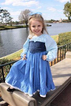 Ariel Romantic Peasant Kiss The Girl Dress Gown Ollie Girl Princess Blue Corsette Little Meramaid Custom Boutique 12 months - 7 Girls EtsyKi...