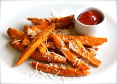 Easy Sweet Potato Fries, With a Dusting of Your Favorite Cheese: Sweet Potato Fries with Parmesan
