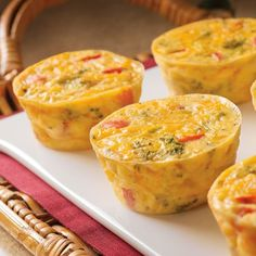 These bite-size, crustless colorful mini quiches are filled with cheddar cheese, broccoli and red peppers. A delicious and colorful addition to any meal and also perfect as a party appetizer.