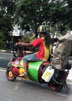 Expensive RASTA Bike. Awoh!!