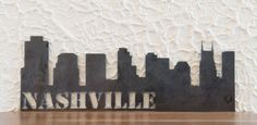 Your place to buy and sell all things handmade Nashville Art, Nashville Skyline, Living Room And Kitchen Design, New Living Room, Steel Art, Cold Rolled, Skyscrapers, Amazing Art, Art Work