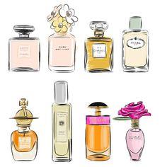 ❤ Boulevard of dreams ❤ Perfume Chanel, Chanel Art, Perfume Logo, Smoke Painting, Lips Sketch, Perfume Display, The Brunette, Beauty Illustration, Vintage Bottles