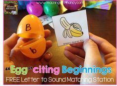 """Egg""citing Early Literacy Ideas - Teaching with Nancy 