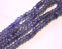 Mystic quartz faceted rondells purple alexandrite color