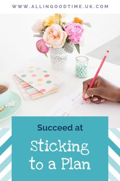 If you want to succeed at sticking to a plan and not give up before achieving your goal then check out these 7 simple strategies for achieving your goals. Time Management Techniques, Time Management Tips, Goals Template, Productive Things To Do, Make A Plan, How To Stop Procrastinating, Planning Your Day, Goals Planner, Achieve Your Goals