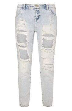 Primark - Lichtblauwe boyfriend jeans met scheuren
