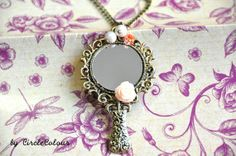 SALE 10 off  Mirror Necklace  Beautiful Mirror by CircleColour, $8.45