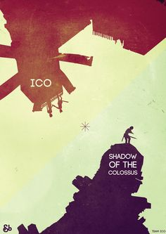 Shadow of the Colossus & Ico Art Print by Andbloom