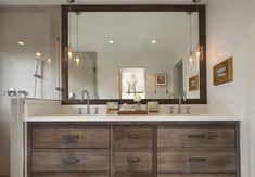 Teen bathroom decor sets amusing pleasant design ideas cheap set best retro only of decorating styles Trendy Bathroom Tiles, Modern Bathroom Design, Wood Wall Bathroom, Modern Bathroom Cabinets, Modern Farmhouse Bathroom, Rustic Bathroom Vanities, Modern Vintage Bathroom, Rustic Bathrooms, Bathroom Design
