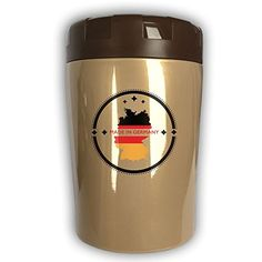 Fashion Made In Germany Country Map Flag Product Label Stainless Steel Vacuum Insulated Beaker Stewing Pot Heat Preservation Barrel Soup Box Stewing Pot Lunch Box