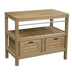 caisson meuble sous-vasque fjord chêne naturel l119xh61.5xp45cm, 4 ... - Parquet Teck Salle De Bain Leroy Merlin