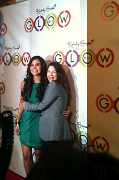 Kimberly Snyder & Drew Barrymore @ the opening of GLOWBIO smoothie/juice shop in LA!