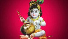 Celebrating Sri Krishna Janmashtami Bal Krishna Photo, Krishna Lila, Krishna Hindu, Baby Krishna, Jai Shree Krishna, Cute Krishna, Radha Krishna Pictures, Lord Krishna Images, Krishna Photos