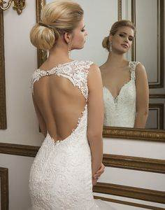 Style 8827: Beaded Lace, Tulle Mermaid accentuated by a V-neck neckline | Justin Alexander