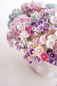 ♆ Blissful Bouquets ♆ gorgeous wedding bouquets, flower arrangements & floral centerpieces - pastel hues