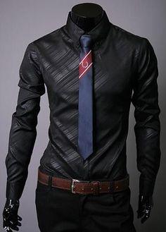 Men Shirt Twill Mens Long Sleeve Lapel Turn Down Collar Business Casual Dress Shirt Slim Fit Camisa Social Masculina Chemise Top
