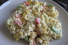 Curry-Reissalat mit Mais und Paprika, ein beliebtes Rezept aus der Kategorie Resteverwertung. Bewertungen: 104. Durchschnitt: Ø 4,2.