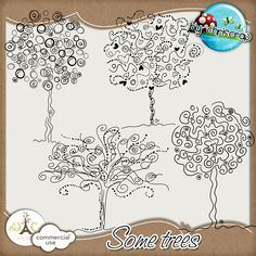 Digi Kit.  Trees to try drawing and also like the way the drawing go over the edge of the border.