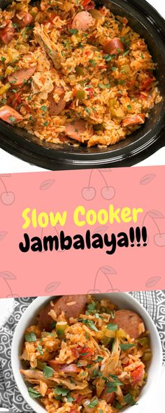 Slow Cooker Jambalaya with andouille sausage, chicken and shrimp cooked low and. Slow Cooker Jambalaya with andouille sausage, chicken and shrimp cooked low and slow with bold spices Jambalaya Crockpot, Sausage Crockpot Recipes, Chicken And Sausage Jambalaya, Healthy Crockpot Recipes, Cooking Recipes, Crockpot Meals, Keto Recipes, Slow Cooker Recipes Family, Dinner Crockpot