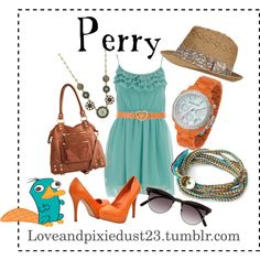 """Perry the Platypus"" by loveandpixiedust on Polyvore"