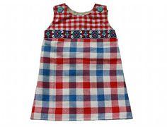 de droomfabriek: Gratis naaipatroon babyjurkje maat 56 t/m 104 Lelijke stof, maar wel leuk patroon!
