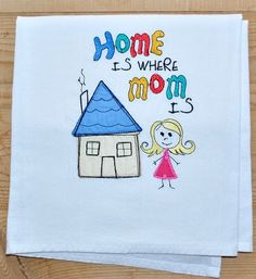 Mother's Day towel gift for mom flour sack dish towel by jessiemae
