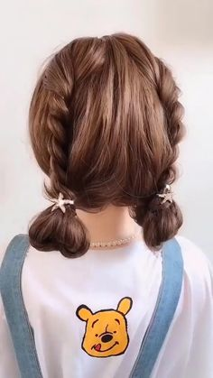 Super easy and super cute 😍😍 Best Picture For easy hairstyles with headbands For Your Taste You are Kawaii Hairstyles, Easy Hairstyles For Long Hair, Diy Hairstyles, Pretty Hairstyles, Hairstyles Videos, Easy Hair Up, Easy Toddler Hairstyles, Short Hair Bun, Cute Hairstyles For Kids