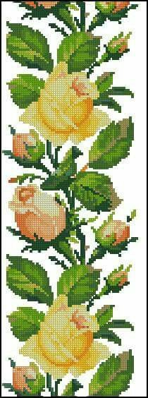 New embroidery beginner flower free pattern 36 ideas Cross Stitch Rose, Cross Stitch Borders, Modern Cross Stitch, Cross Stitch Flowers, Cross Stitch Designs, Cross Stitching, Cross Stitch Embroidery, Cross Stitch Patterns, Embroidery Patterns Free