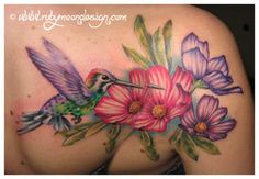 Hummingbird and Cosmos by RubyCherryShop on deviantART Mommy Tattoos, Future Tattoos, Love Tattoos, Tattoos For Guys, Tatoos, Upper Arm Tattoos, Lower Back Tattoos, Hummingbird Flower Tattoos, Tattoo Brazo