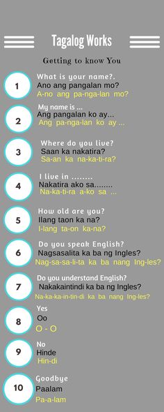 10 Best Learn Language Talalog Images Tagalog Words Filipino