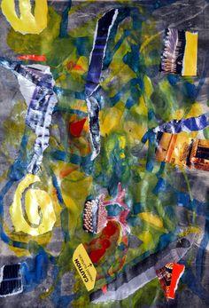 """Espiritualidad Contemporánea:                                   """"la rosa sin espinas no puede"""" collage de José Vega poema del libro """"La Noche Anoréxica"""" de Moni Indiveri de Vega"""