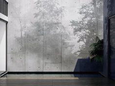Papel pintado lavable de vinilo efecto muro de flores MYSTIC Colección Shadow by GLAMORA