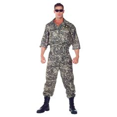 Women's Boys' U S Army Jumpsuit Costume