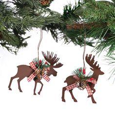 Die Cut Moose & Deer Ornaments - OrientalTrading.com