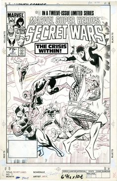 Secret Wars, art: Mike Zeck